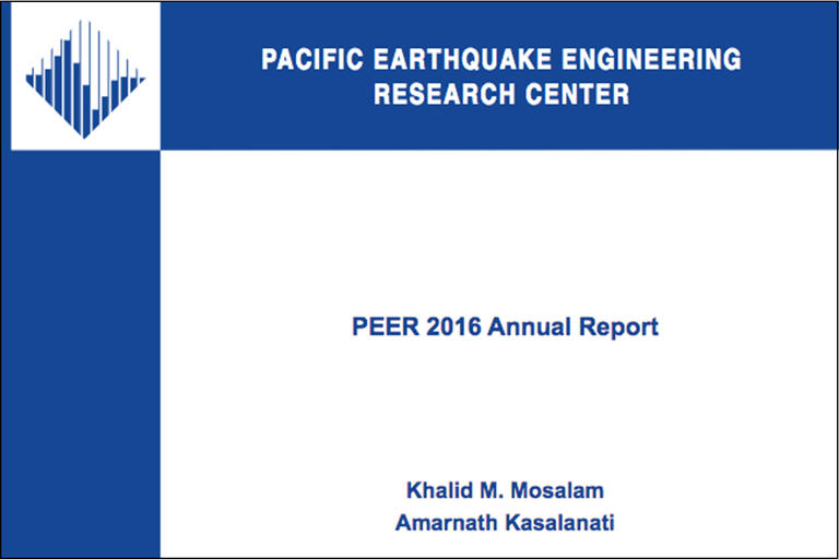 PEER Reports | Pacific Earthquake Engineering Research Center