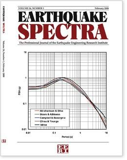 Earthquake Spectra cover page