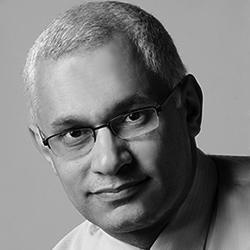Prof. Khalid Mosalam black and white