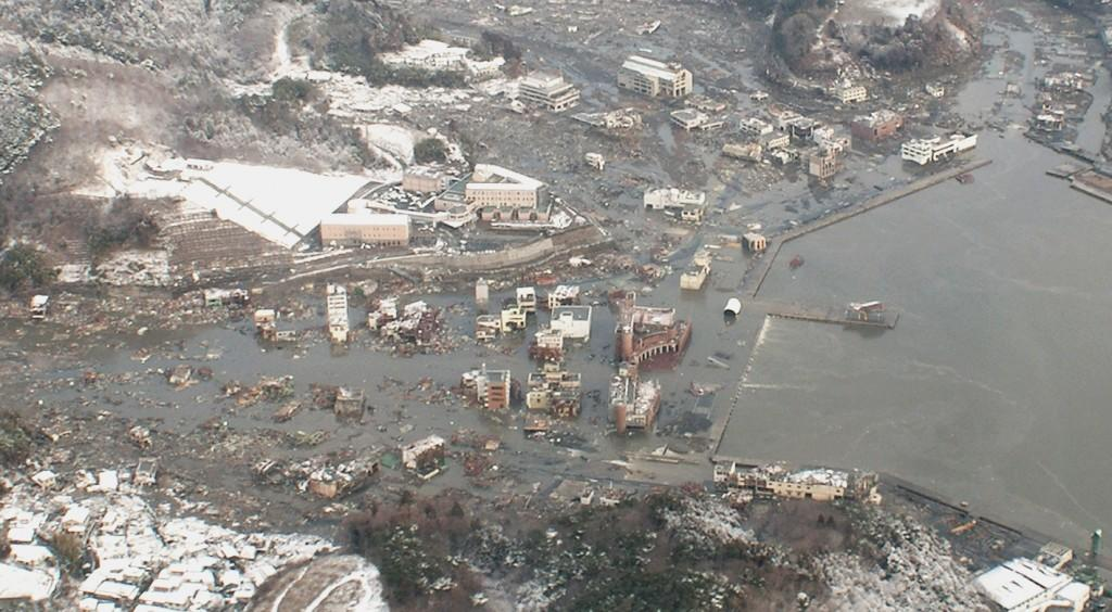 Town of Onagawa after the 2011 East Japan Tsunami event