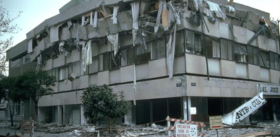Mexico City, Mexico earthquake, Sept. 19, 1985 damage