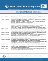 PEER 16WCEE presentations