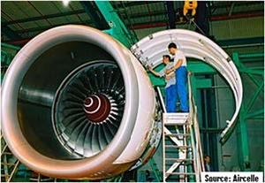 Nacelle of an A380