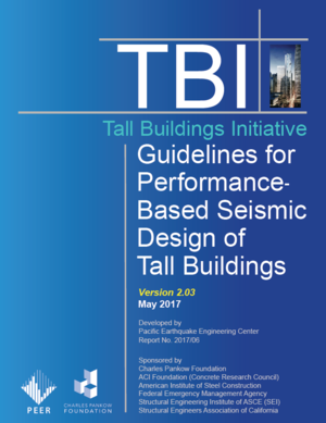 new peer report 201706 guidelines for performance based seismic design of tall buildings version 203